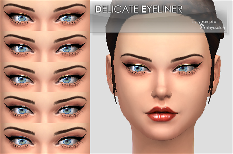 Delicate Eyeliner 5 colors by Vampire_aninyosaloh