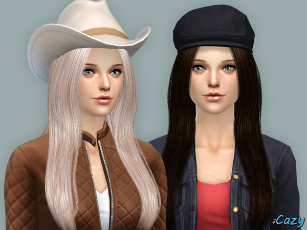 Over The Light Hairstyle - Sims 4 by Cazy