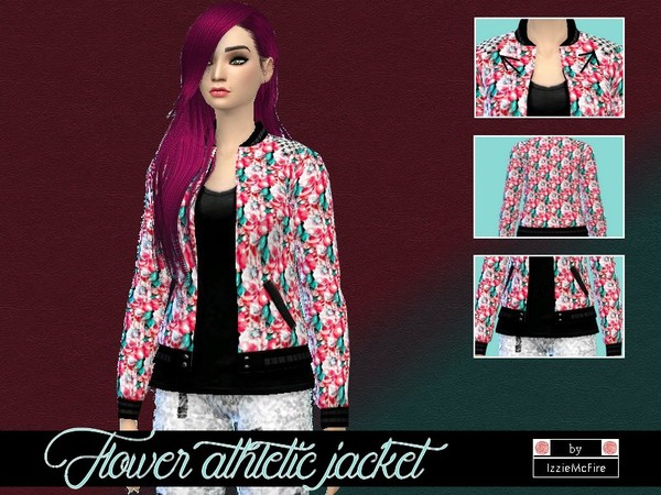 Flower athletic jacket by IzzieMcFire