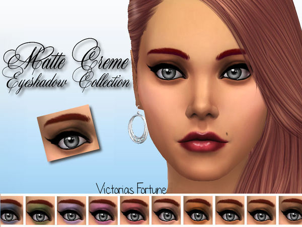 Victorias Fortune Matte Creme Eyeshadow Collection Pu by fortunecookie1