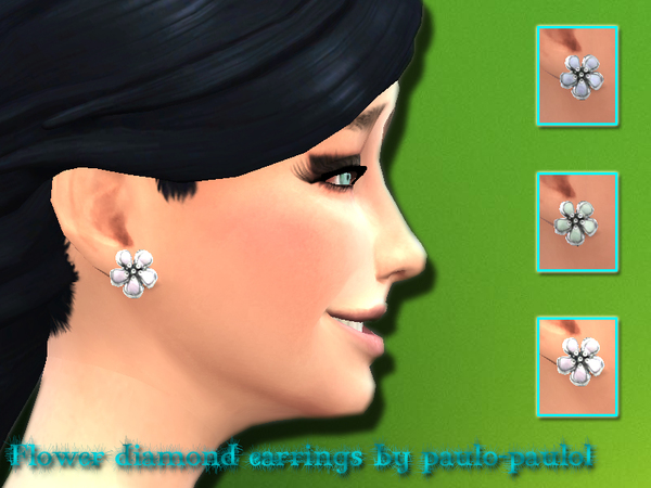 flower diamod earrings by paulo-paulol