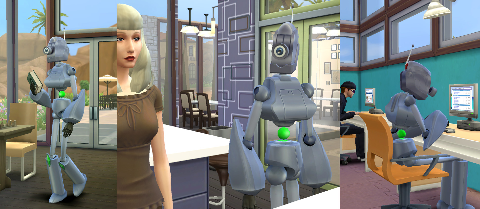Servo robots from Sims by Esmeralda