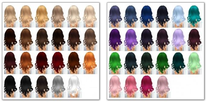Hair retexture 45 colors at Miss Paraply