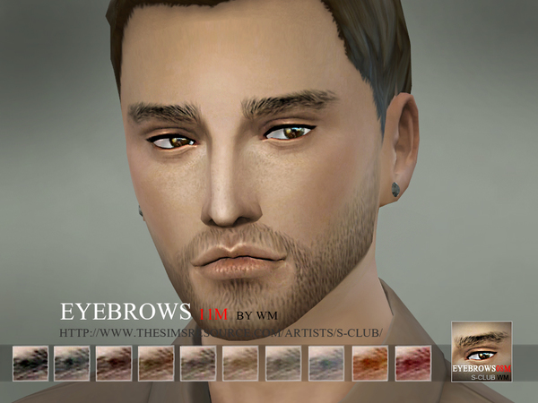 S-Club WM thesims4 Eyebrows11 M