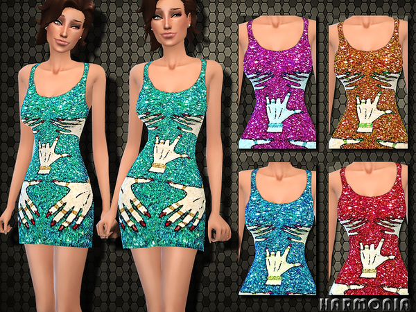 TRA$H Hands Off Sequin Dress by Harmonia