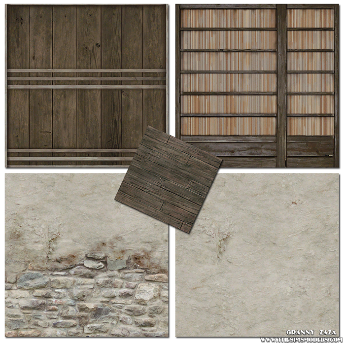 Walls and floor for The Sims 3 by Granny Zaza