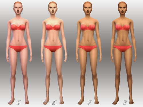 8 Lighter & Desaturated Skins for Females by Notegain