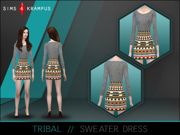 Female Tribal Dress by SIms4Krampus