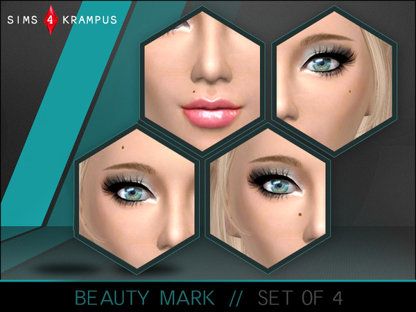 Beauty Mark Set of 4 by SIms4Krampus