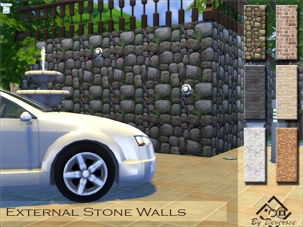 External Stone Walls by Devirose