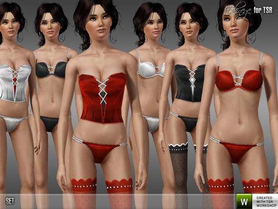 Crystal Lingerie Set 40 by ekinege