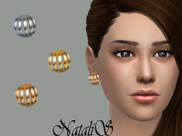 NataliS_Cage-like stud earrings FT-FE