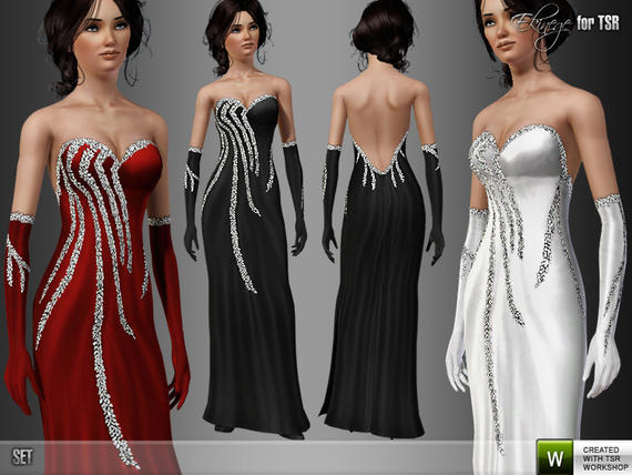 Silver Embellished Gown by ekinege