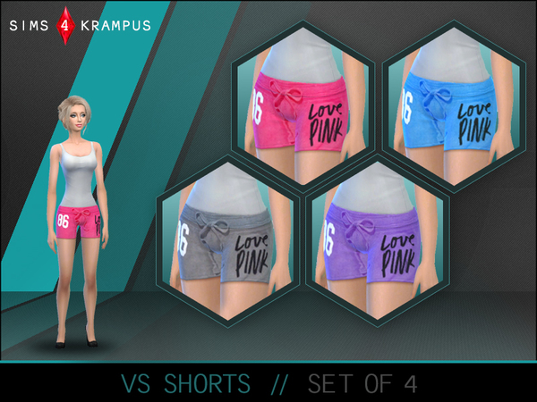 Victoria Secret Short Set of 4 by SIms4Krampus