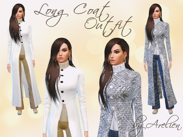Long Coat Outfit Set by Arelien