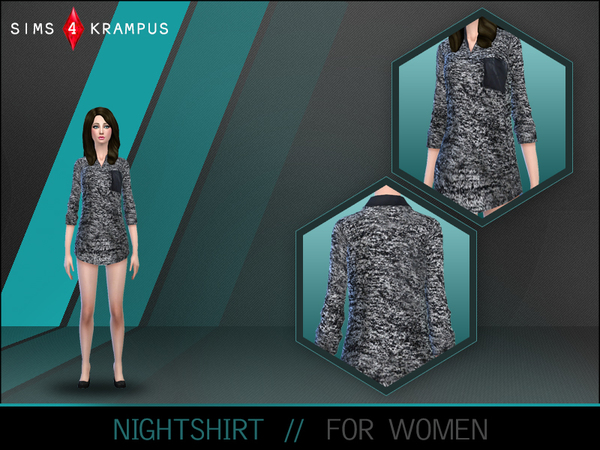 Female Nightshirt by SIms4Krampus