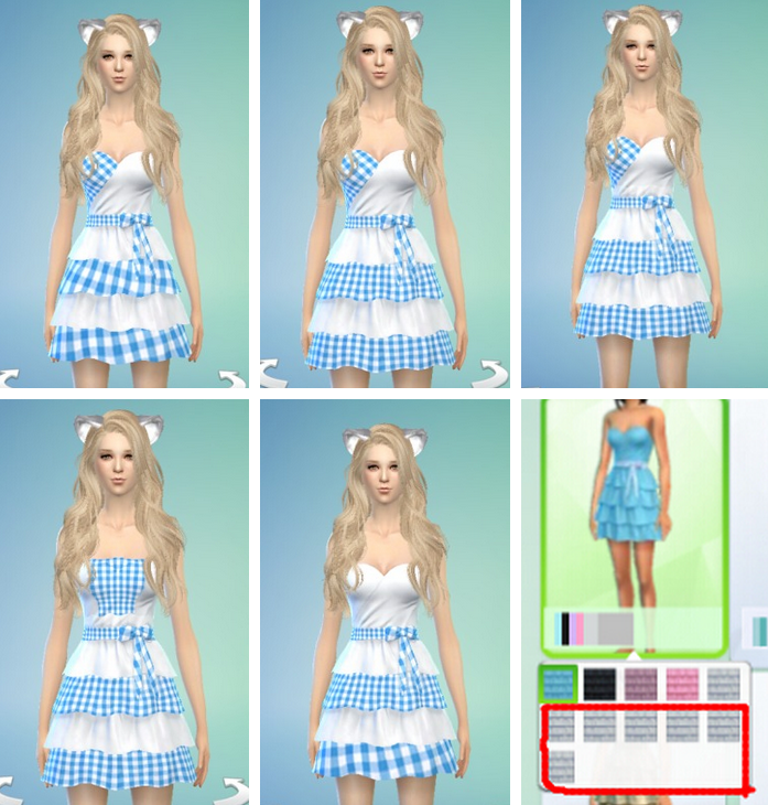 Blue & White Checkered Dress by Savoki77