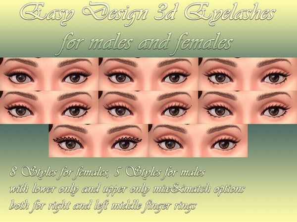 Easy Design 3D Eyelashes by Notegain