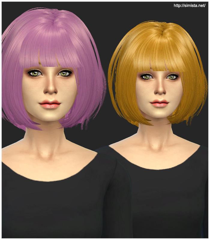 Newsea Hair J070 Conversion Maxis Match at Simista