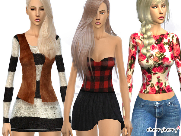Cold New York - Clothing set 15 by CherryBerrySim