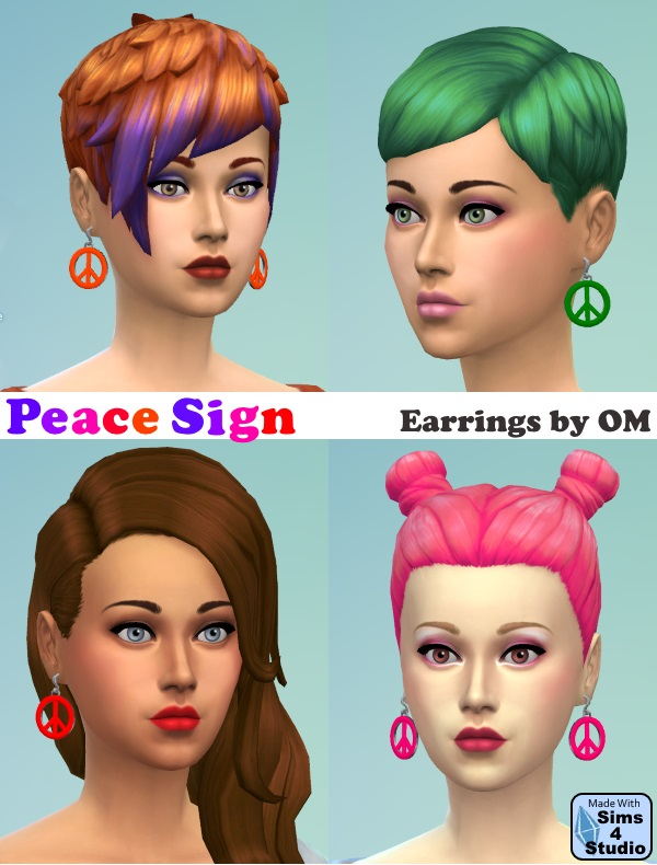 Peace Sign Earrings by OM