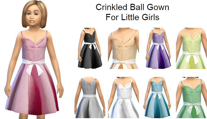 Crinkled Ball Gown for Girls by Simphany