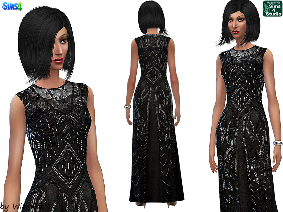 Beaded Evening Gown by Wimmie