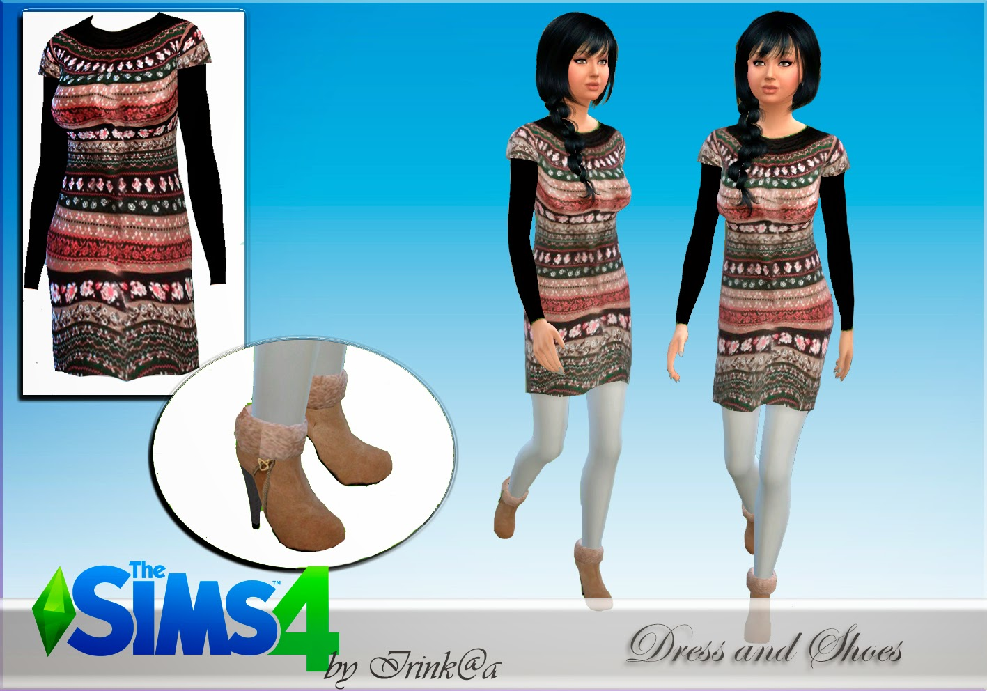 Winter Dress and Boots by Irink@a