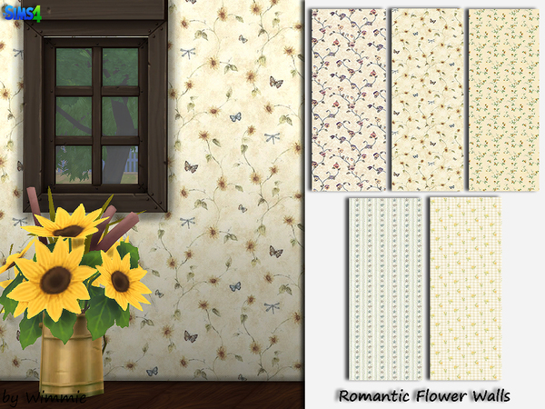 Romantic Flower Walls by Wimmie