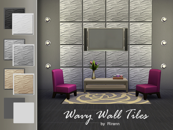 Wavy Wall Tiles by Rirann