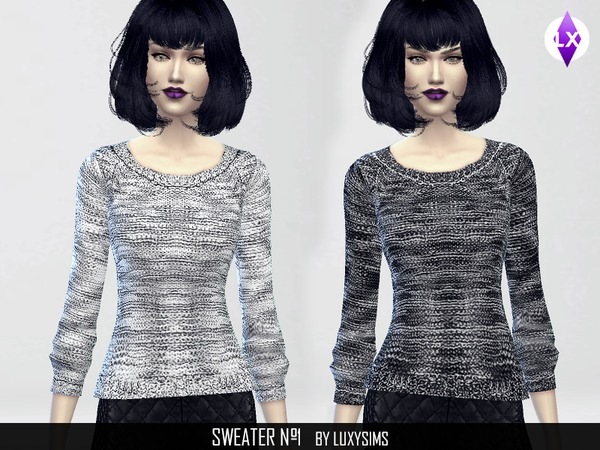 Thick wool sweater by LuxySims3