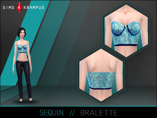 Sequin Bralette by SIms4Krampus