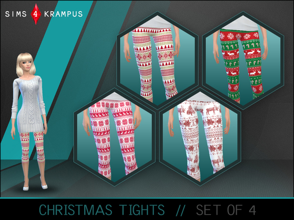 Set of 4 Christmas Tights by SIms4Krampus