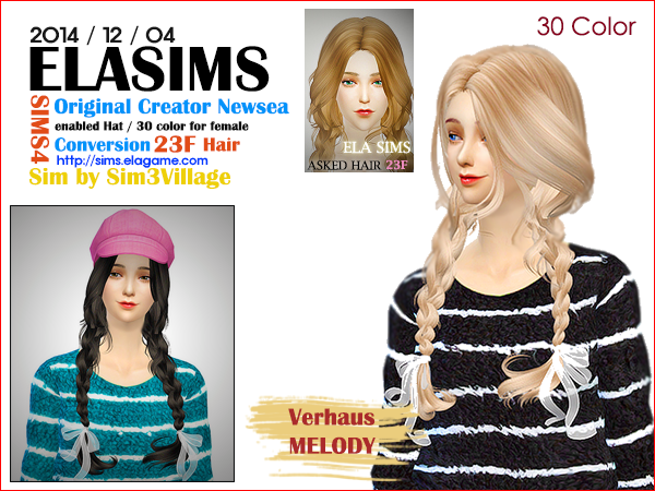 Sims 4 Asked Hair 23F by Elasims