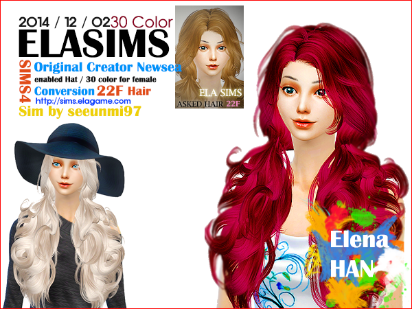 Sims 4 Asked Hair 22F by Elasims