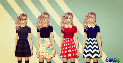 Nerds dress at Sims 4 Ego