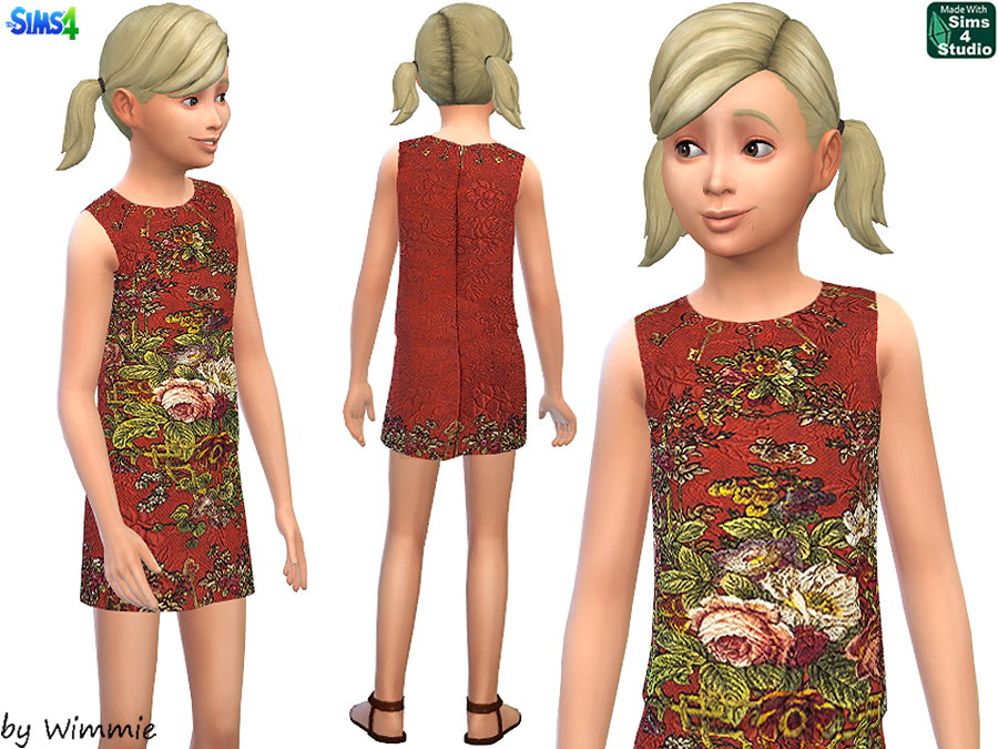 Brocade dress for girls by Wimmie