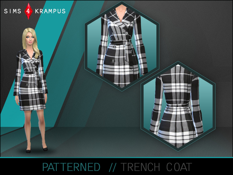 Female Trench Coat by SIms4Krampus