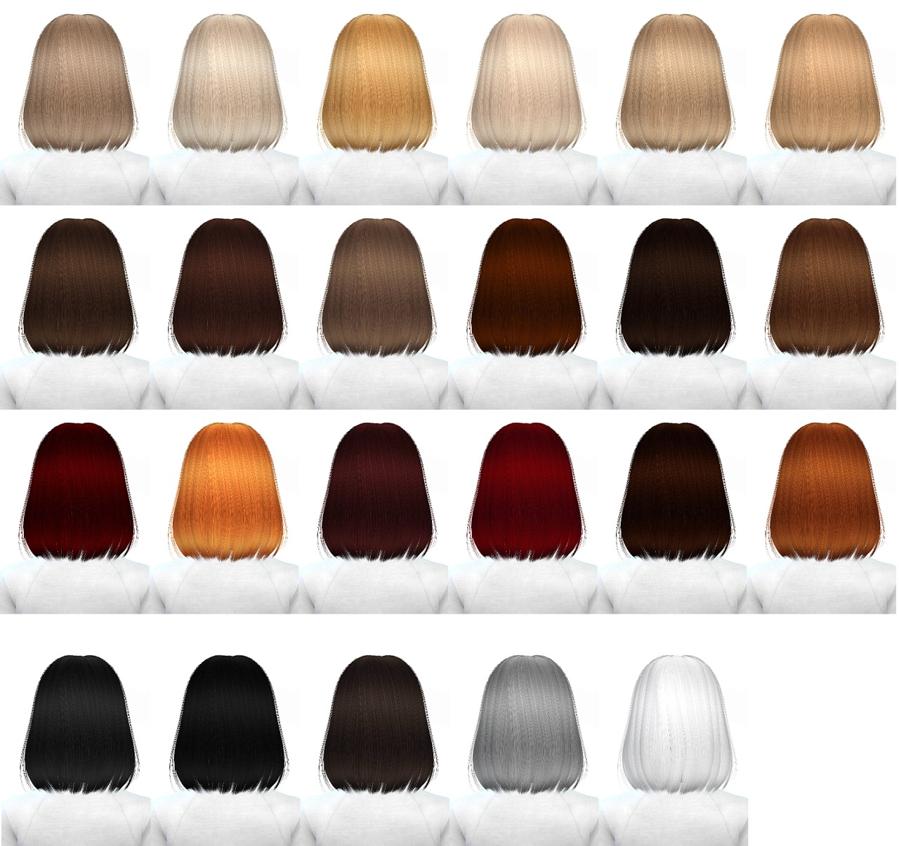 Alessos LION hair retexture 45 colors at Miss Paraply