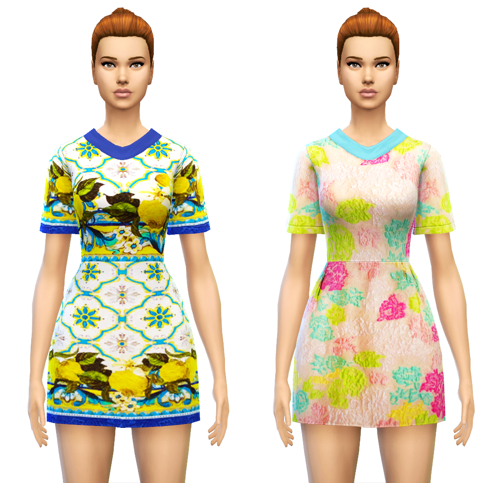 Collared Smock Dress at Sim4ny