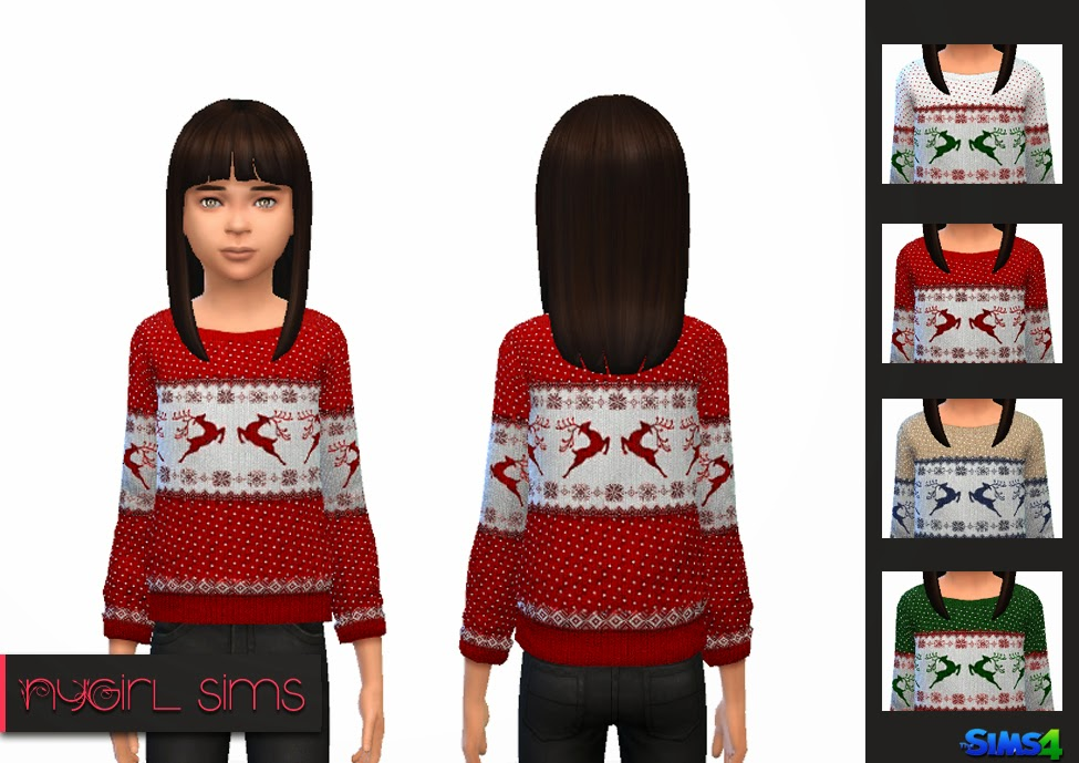 Child Holiday Sweater by NyGirl