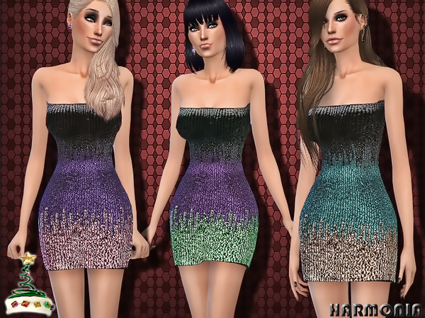 Sequinned Christmas Party Dress~Xmas 2015 by Harmonia