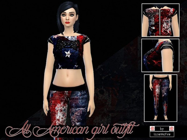 All American girl outfit set by IzzieMcFire