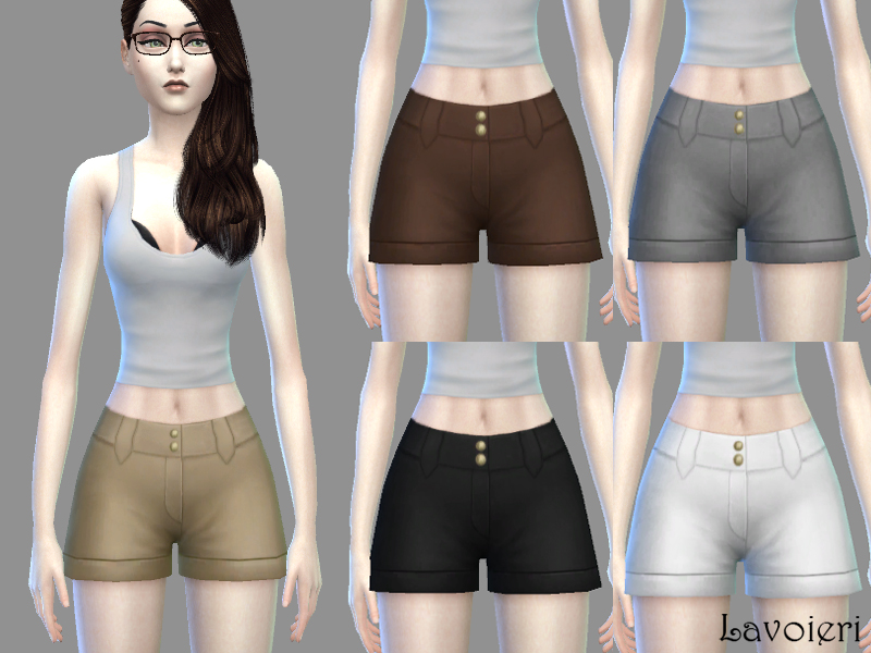Nettie Shorts 5 neutral tones at Lavoieri