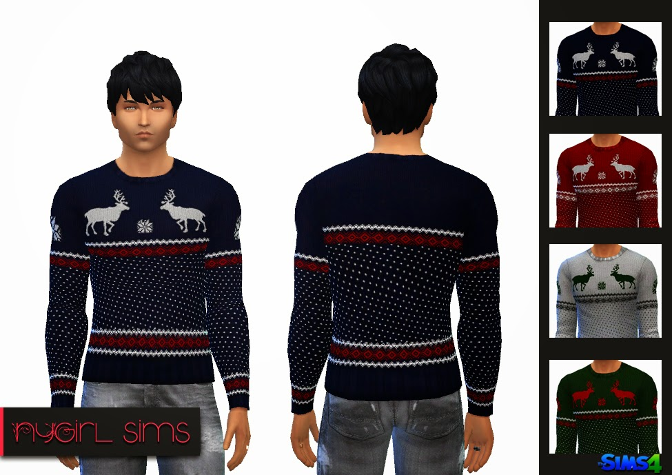 Men's Holiday Sweater by NyGirl