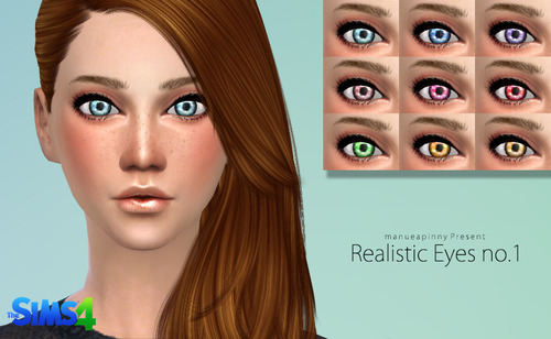 Realistic eyes no.1 by Manueapinny