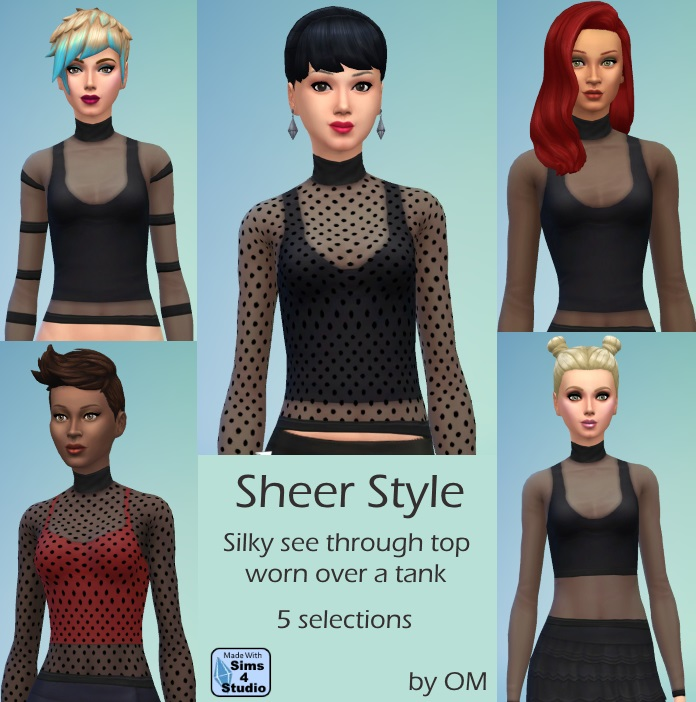 Sheer Style Top by OM