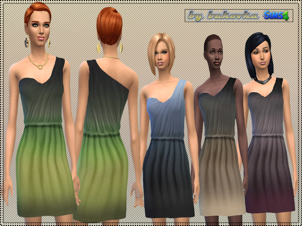 Dress asymmetry gradient by bukovka