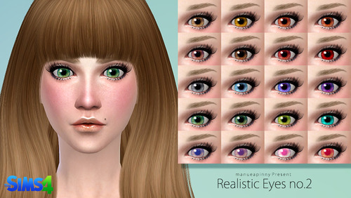Realistic eyes no.2 by Manueapinny