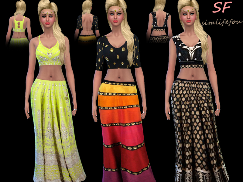 Bollywood style top and skirt at Simlife